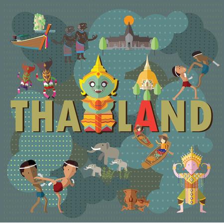 伝統: タイへの旅行します。  イラスト・ベクター素材
