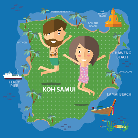 samui: travel Koh Samui Thailand Illustration