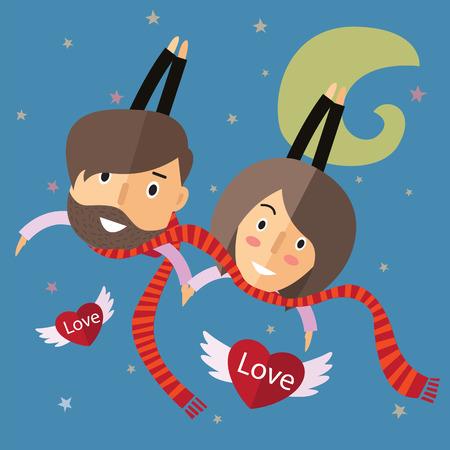 happy couple: couple happy valentine