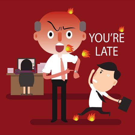 late: boss angry youre late