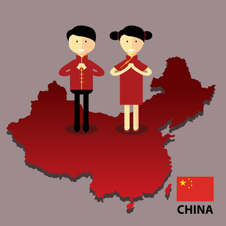 people china with map