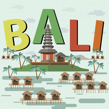 indonesia culture: Bali indonesia Illustration