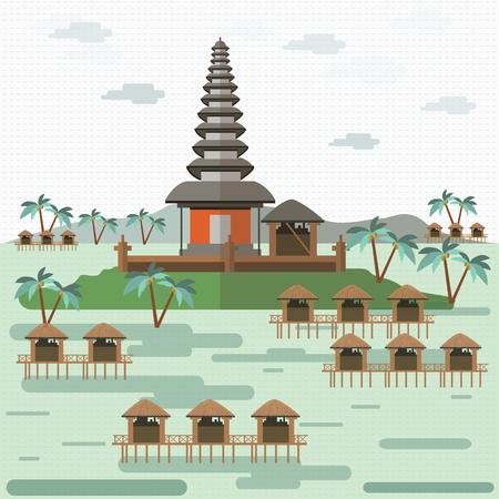 Bali indonesia Çizim