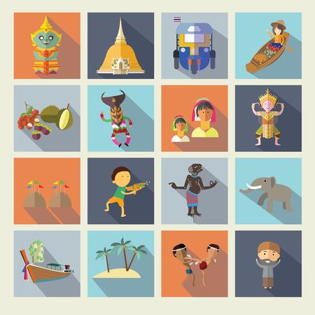 Iconos Tailandia