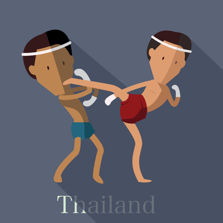 Thai boxing (Muay Thai) of Thailand