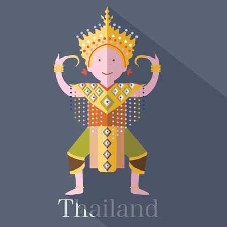 tune: classical Thai tune of Thailand Illustration