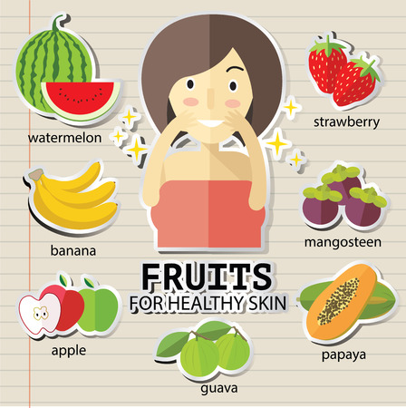heathy: fruits for heathy skin