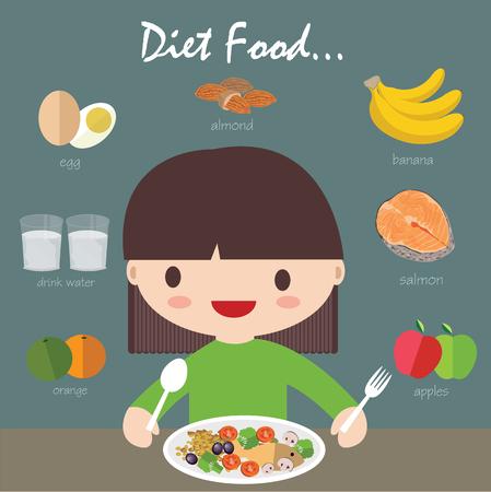 diet food eps 10 format Çizim