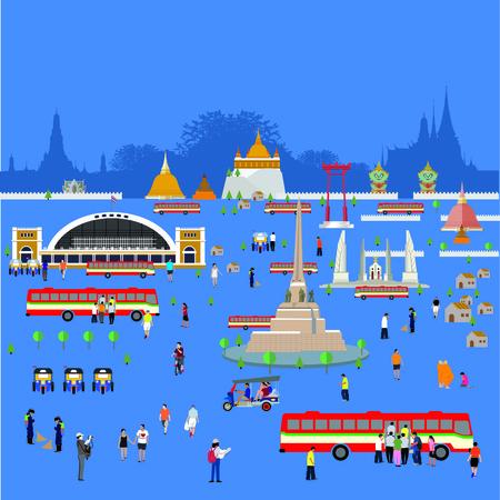 Bangkok Thailand life style Çizim