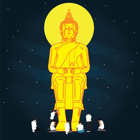 buddha statue illustration Stock Vector - 111402773