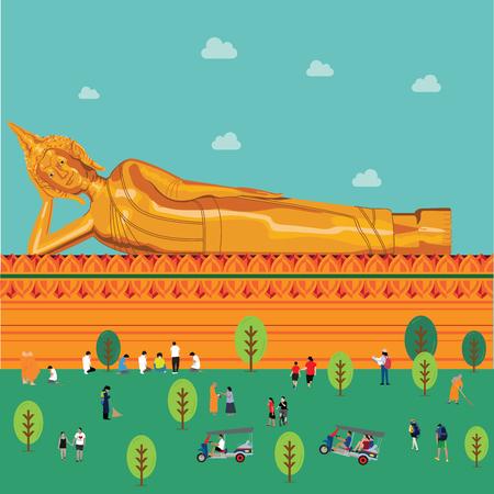 buddha statue illustration