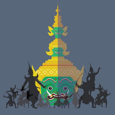 Khon (dramat taneczny) tajska tradycyjna historia Ramajany