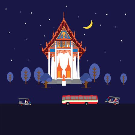 night temple in bangkok