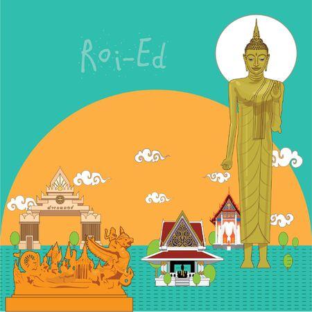 illustration Roi-Ed province of Thailand