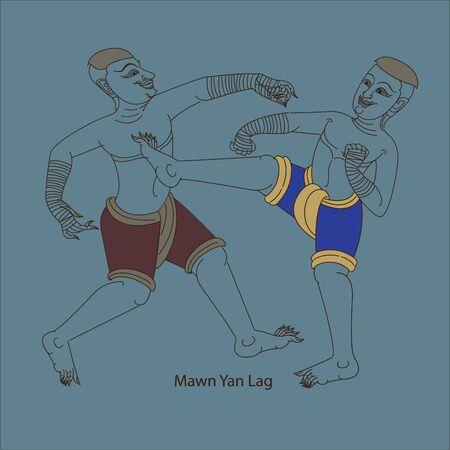 Muay Thai (Thai art) culture of Thailand format Archivio Fotografico - 134718595