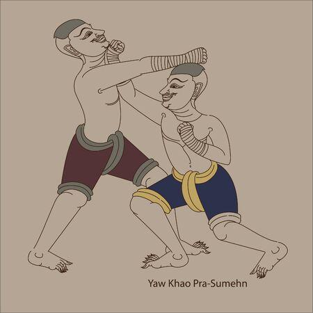 Muay Thai (Thai art) culture of Thailand format 免版税图像 - 134718600