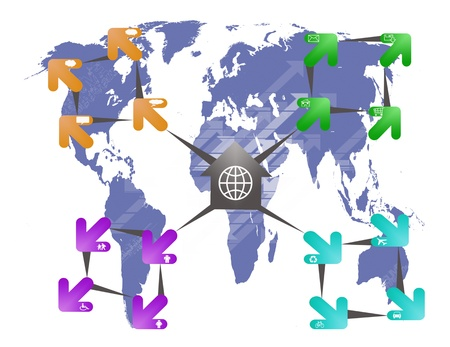 mondial: Abstract Arrow SignSymbol Stock Photo