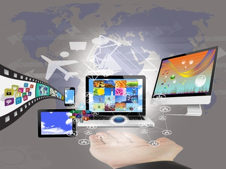 Objects Arrow Computers Arrow Network/Connection Stock Photo - 17867054
