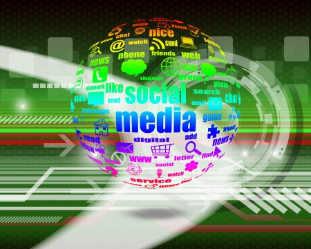 Social media   on abstract  background Stock Photo