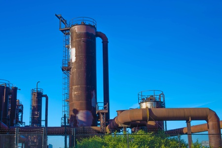 industrial park: Gas industrial machineries at Gas works public park, Seattle, Washington