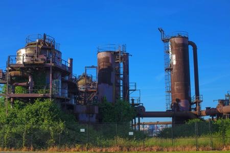 industrial park: Gas industrial machineries at Gas works public park, Seattle, Washington