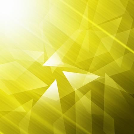 trapezoid: Trapezoid abstract background yellow Stock Photo