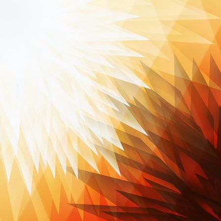 trapezoid: Orange trapezoid abstract background