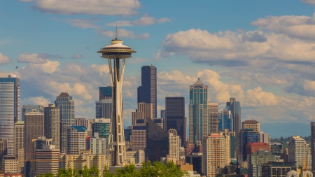 Seattle Downtown from Kerry Park viewpoint  photo