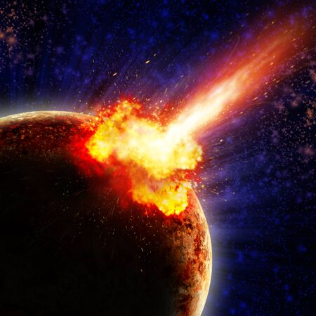 Global accident - collision of an asteroid with the Earth