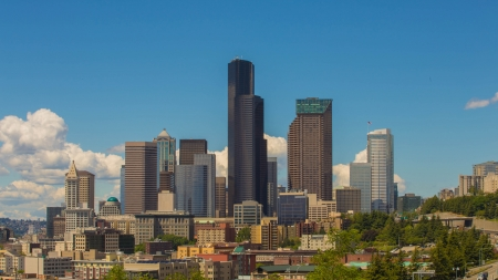dr: The View of Seattle from Dr Jose Rizal Bridge  Stock Photo