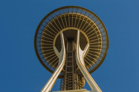 the world expo: SEATTLE  Space Needle in Seattle on june 18, 2013 in Seattle, USA. It is located at Seattle center