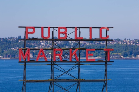 pike place market sign: public market sign