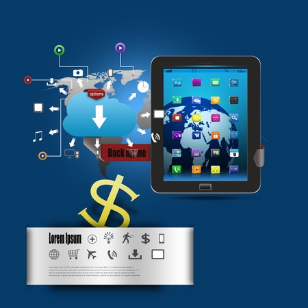 Modern infographics business technology communication photo
