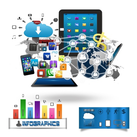 Technology business concept Stock Photo