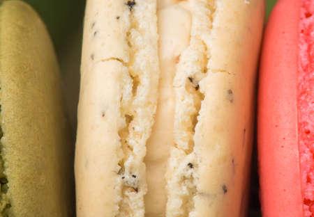 Closeup colorful  macaroon  photo