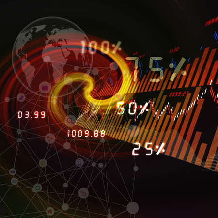 global stock market on Social ,abstract background photo