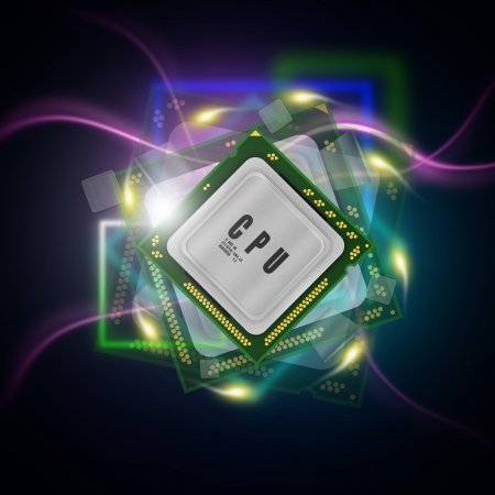 microcontroller: power processor abstract background Stock Photo