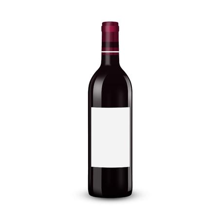 realistic wine bottle Illustration illustration