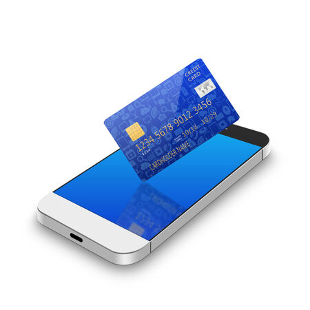creditcard: credit card with smartphone