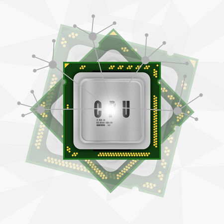 power processor abstract background photo