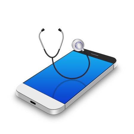 palmtop: stethoscope on smartphone