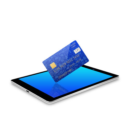 creditcard: credit card on tablet