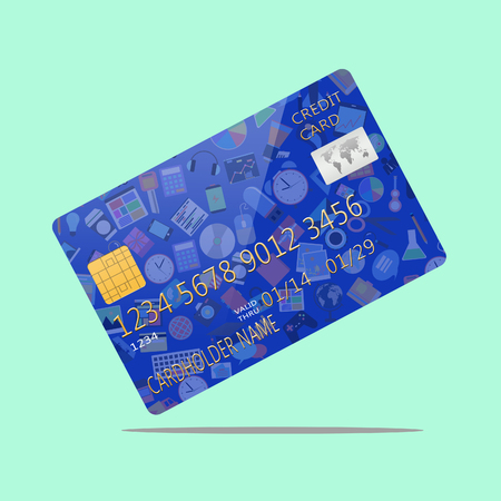 Social media on credit card photo