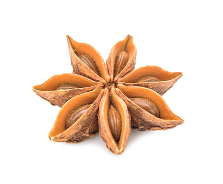Star anise isolated on white background photo