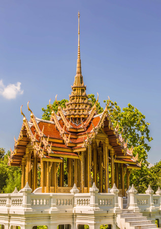 Ancient thai pavilion in thailand. photo