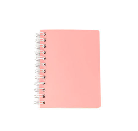 stack of ring binder book and notebook isolated on white photo