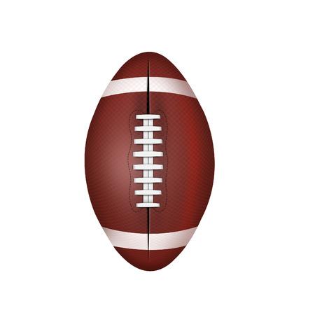 白い背景に分離したアメリカン フットボールのボール 写真素材