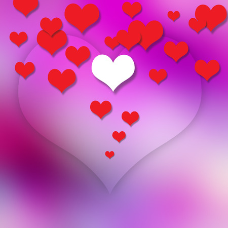 Heart  on abstract  background photo