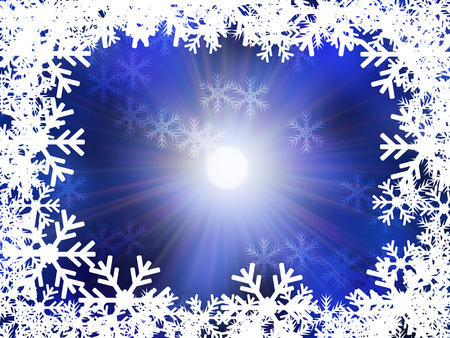 blessed: Winter delightful snowfall background