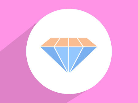 karat: Diamond ,Flat design style Stock Photo